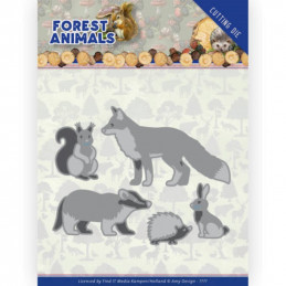 Die - ADD10233 - Forest Animals - lapins - Renard - Ecureuil- Hérisson et blaireau