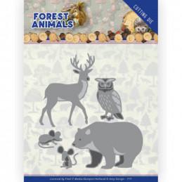 Die - ADD10234 - Forest Animals - Ours - Cerf - Hibou et souris