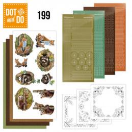 Dot and do 199 - kit Carte 3D  - Animaux de la forêt