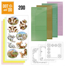 Dot and do 200 - kit Carte 3D  - Animaux de la ferme