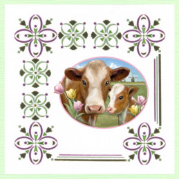 Dot and do 200 - kit Carte 3D  - Animaux de la ferme - vaches