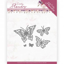 Dies - PM10193 - Pretty flowers - Papillons