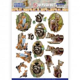 Carte 3D prédéc. - SB10535 - Forest animals - Renards