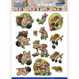 Carte 3D prédéc. - SB10536 - Forest animals - Souris