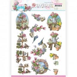 Carte 3D prédéc. - SB10541 - Enjoy spring - Décorations de printemps