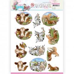 Carte 3D prédéc. - SB10542 - Enjoy spring - Animaux de la ferme
