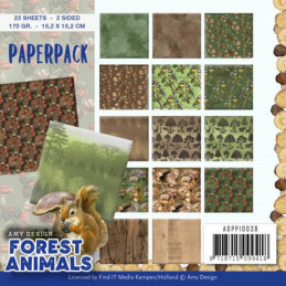 Bloc de papier - Amy Design - Forest animals 15.2 x 15.2