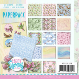 Bloc de papier - Amy Design - Enjoy spring 15.2 x 15.2