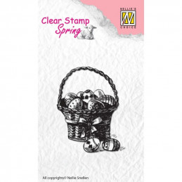 Tampon clear panier de Pâques 4,5x5,7 cm