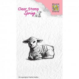 Tampon clear agneau 4,9x3,7 cm
