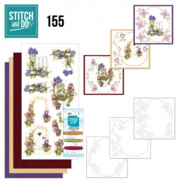 Stitch and do 155 - kit Carte 3D broderie - Le beau jardin