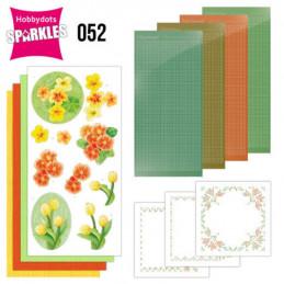 Kit Sparkles Set 52 - Fleurs jaune orangé