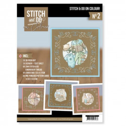 Stitch and Do on Colour 002 - Kit Carte 3D à broder de couleur
