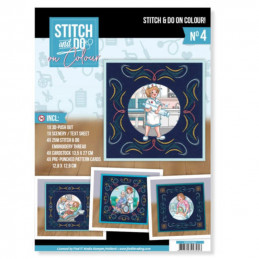 Stitch and Do on Colour 004 - Kit Carte 3D à broder de couleur Professions