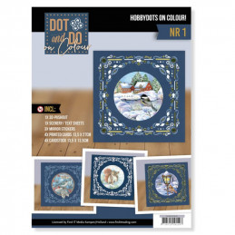 Dot and Do on Colour 1 - Kit Carte 3D - Hiver
