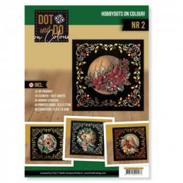 Dot and Do on Colour 2 - Kit Carte 3D - OIseaux en Hiver