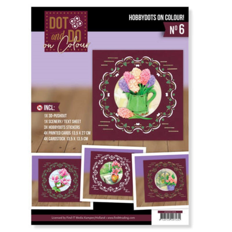 Dot and Do on Colour 6 - Kit Carte 3D - Bienvenue au printemps