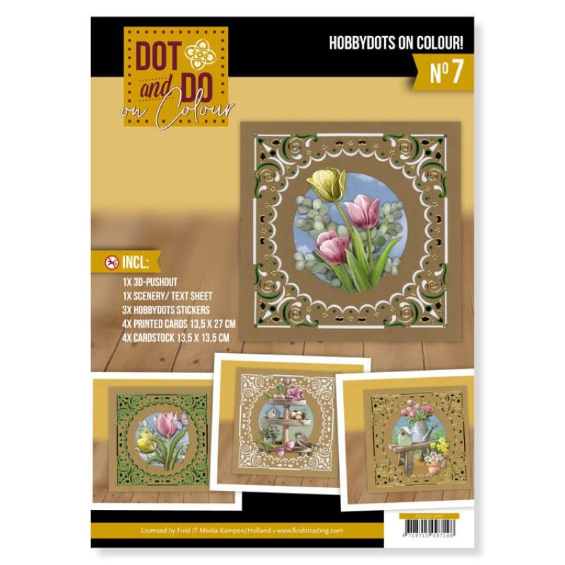 Dot and Do on Colour 7 - Kit Carte 3D - Fleurs de printemps