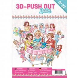 Carte 3D livre A4 prédécoupé - Femmes  24 images + papiers