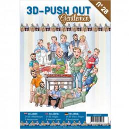 Carte 3D livre A4 prédécoupé - Hommes 24 images + papiers