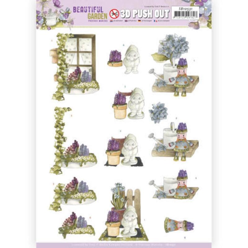 Carte 3D prédéc. - SB10531 - Beautiful garden - Nain de jardin