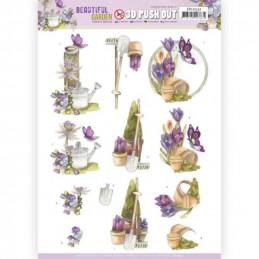 Carte 3D prédéc. - SB10531 - Beautiful garden - Papillons