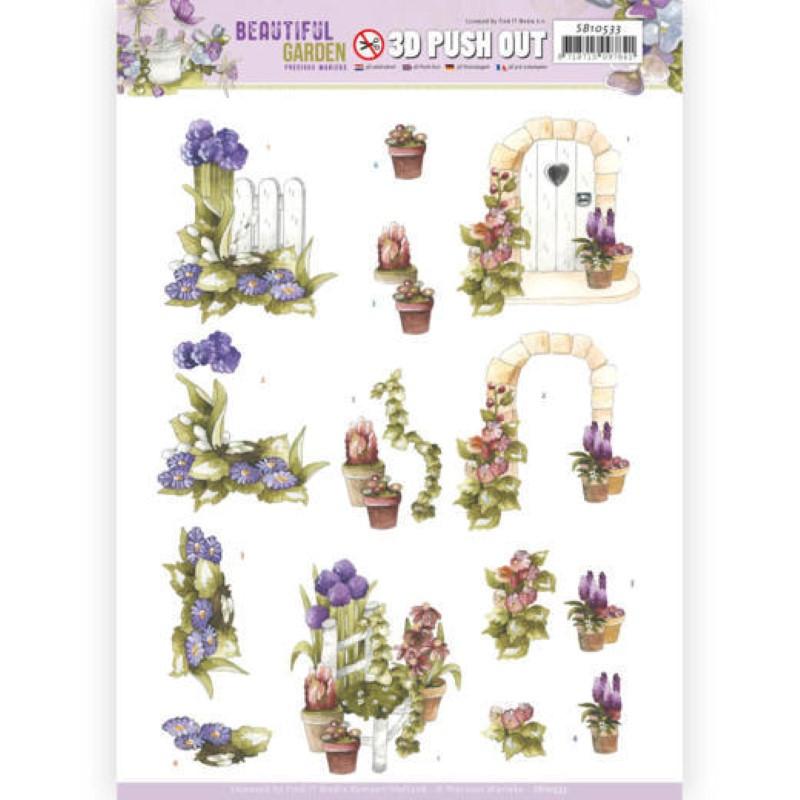 Carte 3D prédéc. - SB10533 - Beautiful garden - Alliums