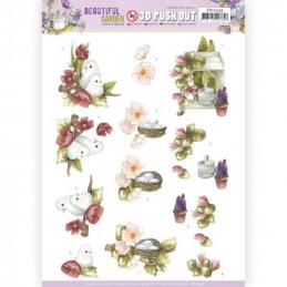 Carte 3D prédéc. - SB10534 - Beautiful garden - Pigeons
