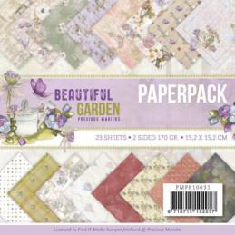 Bloc de papier - Precious marieke - Beautiful garden 15.2 x 15.2 cm