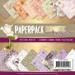 Bloc de papier - Precious marieke - Romantic roses 15.2 x 15.2 cm