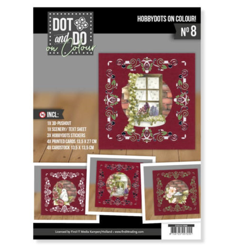 Dot and Do on Colour 8 - Kit Carte 3D - Beau jardin