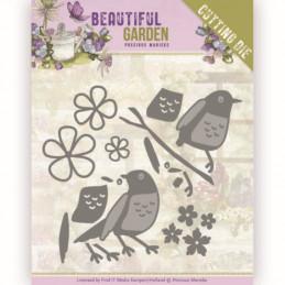 Dies - PM10206 - Beautiful garden - Oiseaux et fleurs
