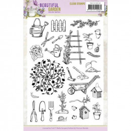 Tampons transparents - PMCS10048 - Beautiful garden
