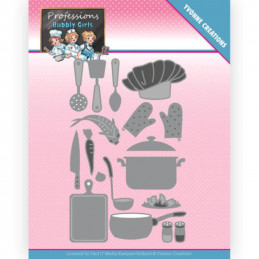 Dies - Yvonne Creations - Professions Bubbly girls - Cuisinières - YCD10236