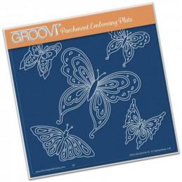 Pochoir d'embossage Groovi Papillon