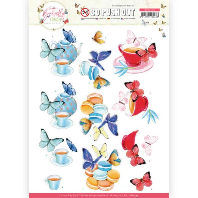 Carte 3D prédéc. - SB10543 - Butterfly touch - Papillons bleus