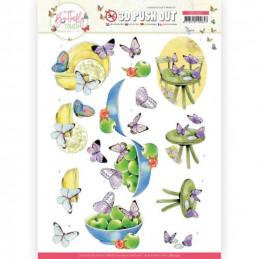 Carte 3D prédéc. - SB10545 - Butterfly touch - Papillons pourpre