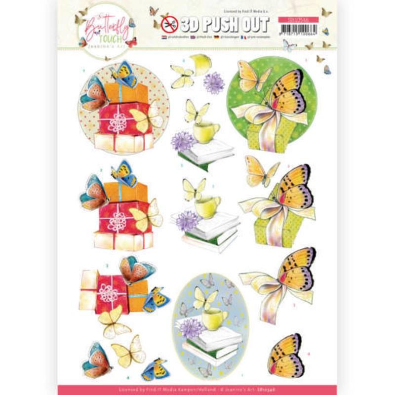 Carte 3D prédéc. - SB10546 - Butterfly touch - Papillons jaunes