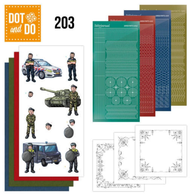 Dot and do 203 - kit Carte 3D  - Professions Hommes