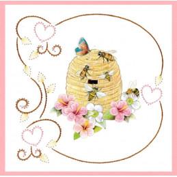 Stitch and do 158 - kit Carte 3D broderie - Les abeilles