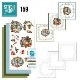 Stitch and do 159 - kit Carte 3D broderie - Histoire de Noël