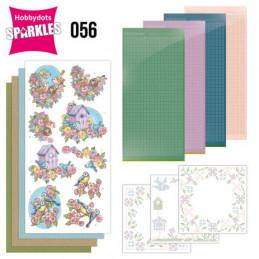 Kit Sparkles Set 56 - Fleurs et oiseaux