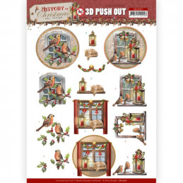 Carte 3D prédéc. - SB10567 - Histoire de Noël - Fenêtre à Noël