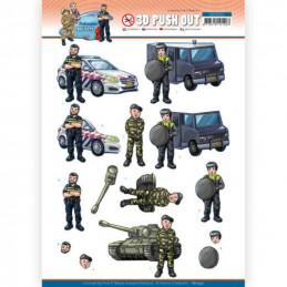 Carte 3D prédéc. - SB10552 - Professions Hommes - Police militaire