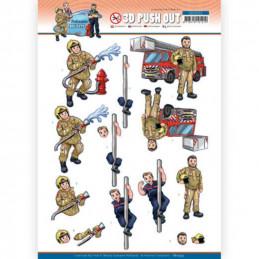 Carte 3D prédéc. - SB10553 - Professions Hommes - Pompiers