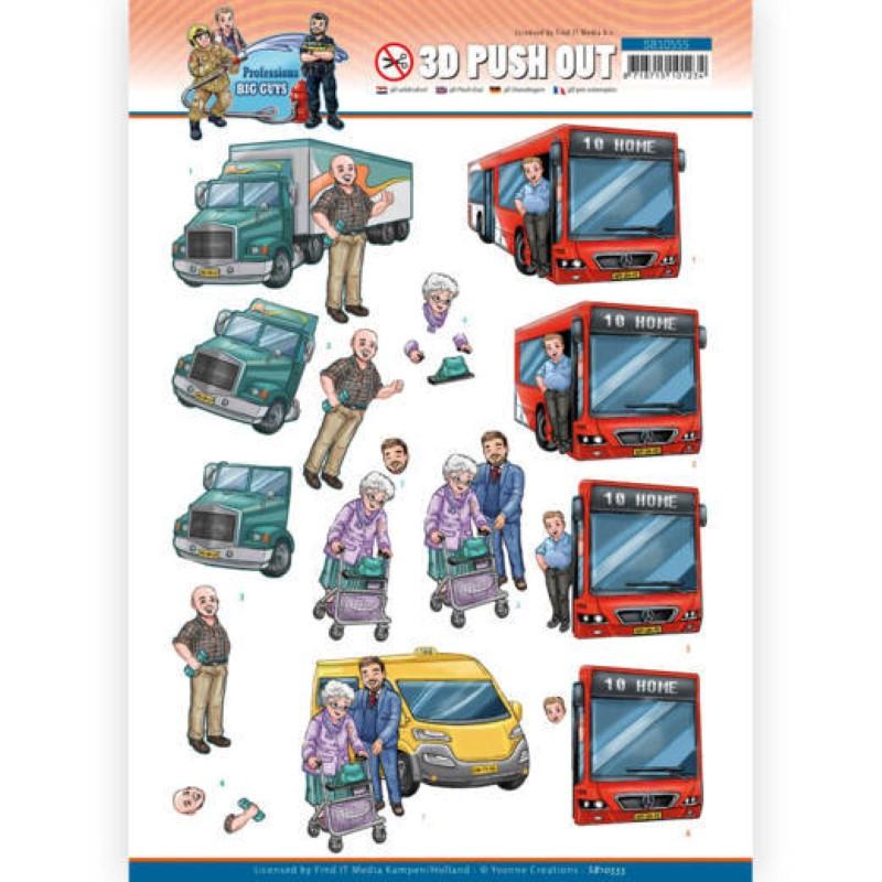 Carte 3D prédéc. - SB10555 - Professions Hommes - Conducteurs