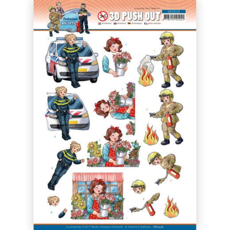 Carte 3D prédéc. - SB10556 - Professions Hommes - Femmes