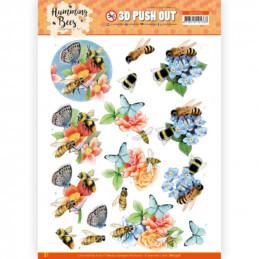 Carte 3D prédéc. - SB10558 - Les abeilles - abeilles et bourdons