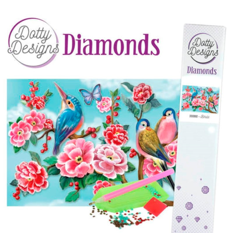 Broderie Diamant - Birds