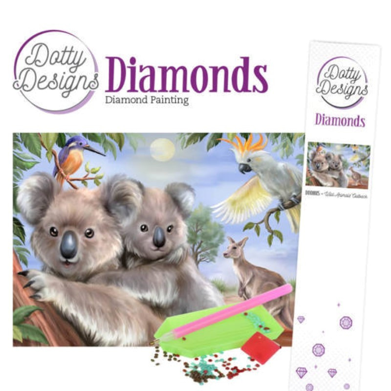 Broderie Diamant - Wild animals Outback
